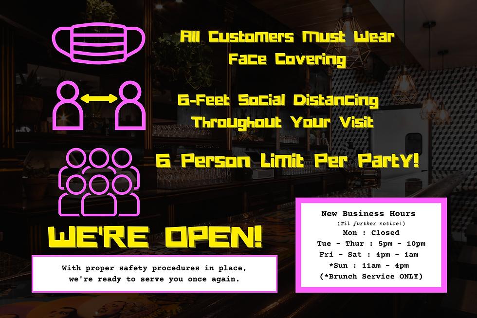 New Business Hours (Til further notice!)