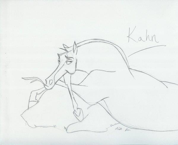 "Kahn sketch from ""Mulan"""