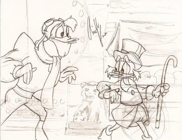 "Scene Sketch from ""Ducktales"""