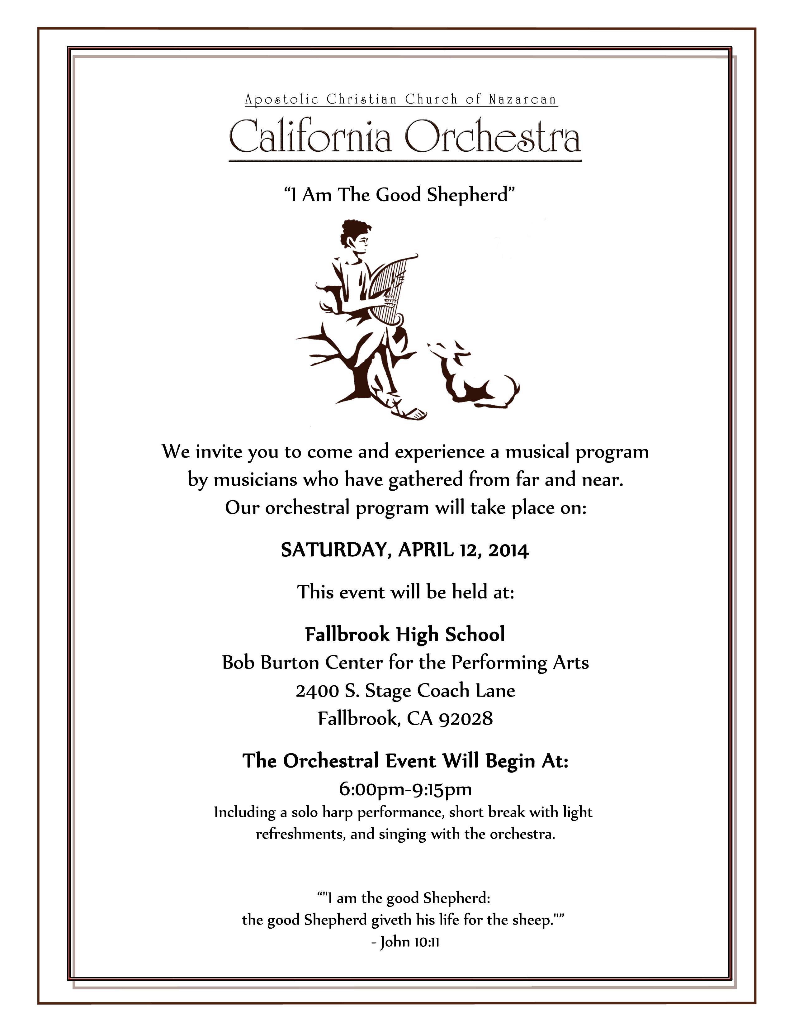 Orchestra Invitation 2014