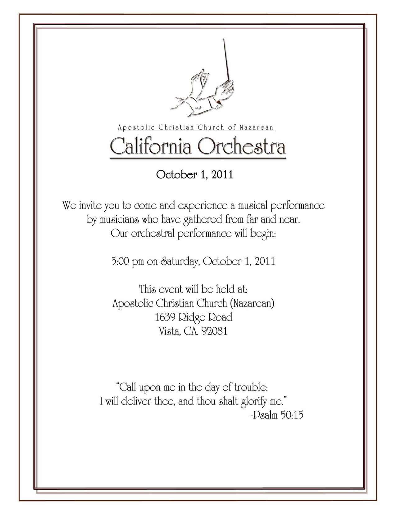 Orchestra Invitation 2011