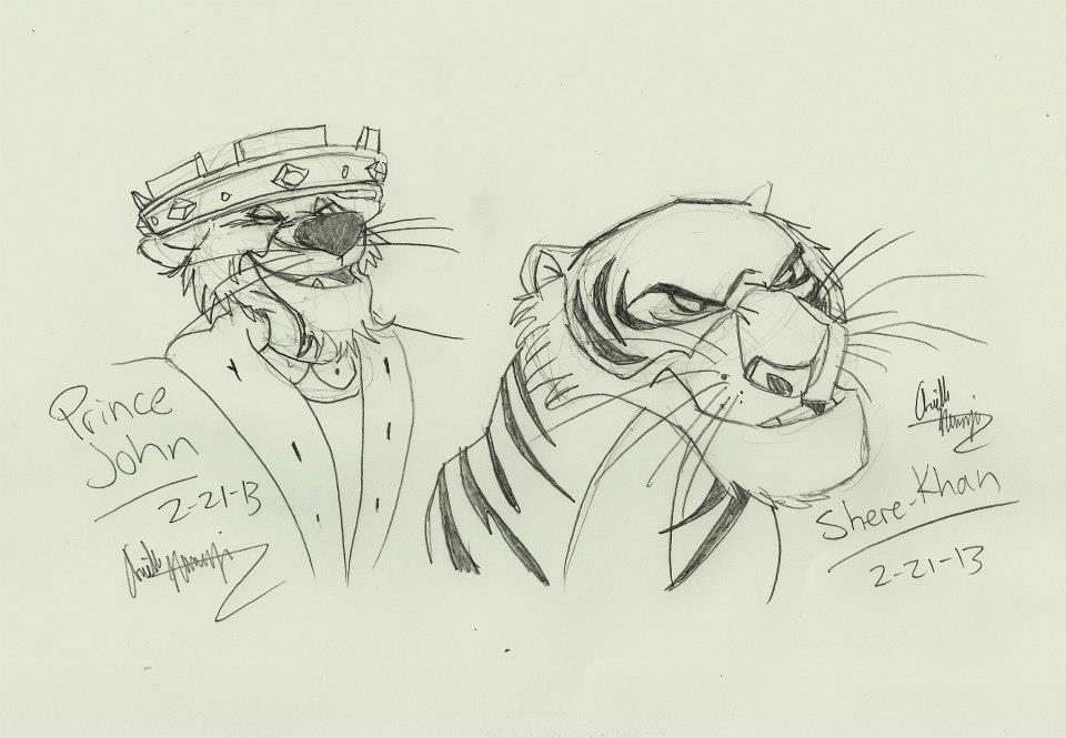 Disney Villains Sketch