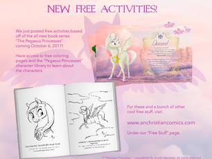 New Free Pegasus Princesses Activities!