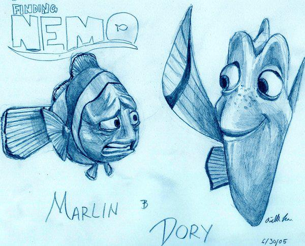 Marlin and Dory Sketch