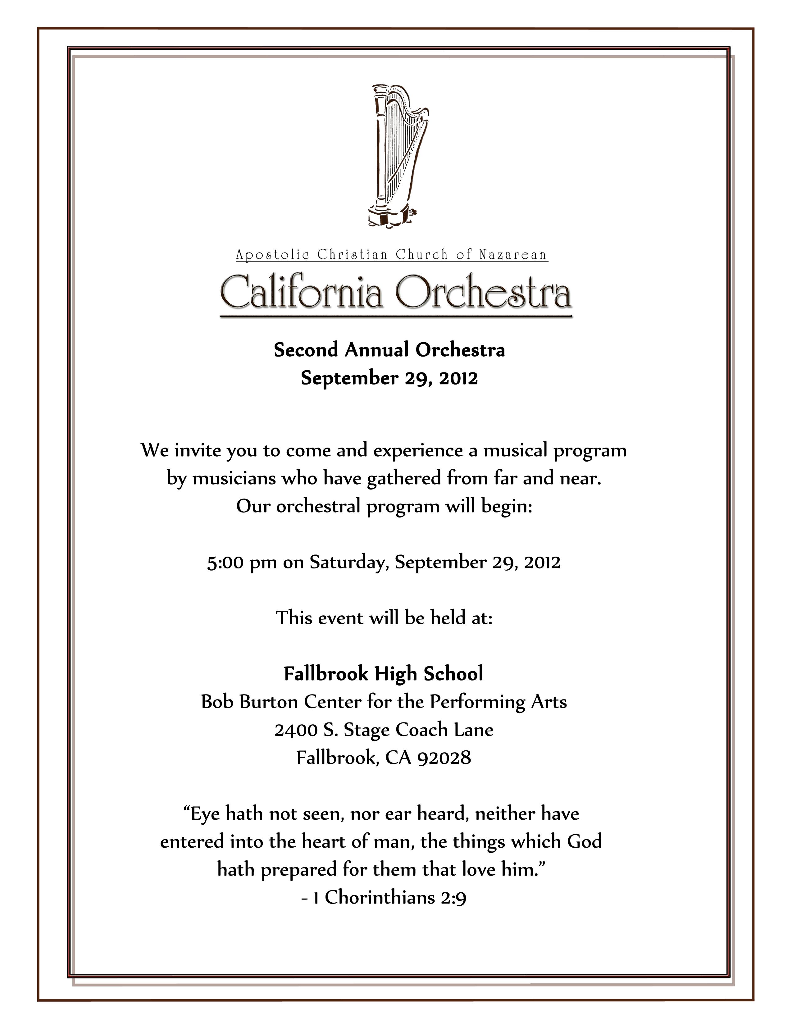 Orchestra Invitation 2012