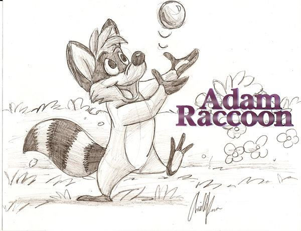 "Adam Sketch from ""Adam Racoon"" Books"