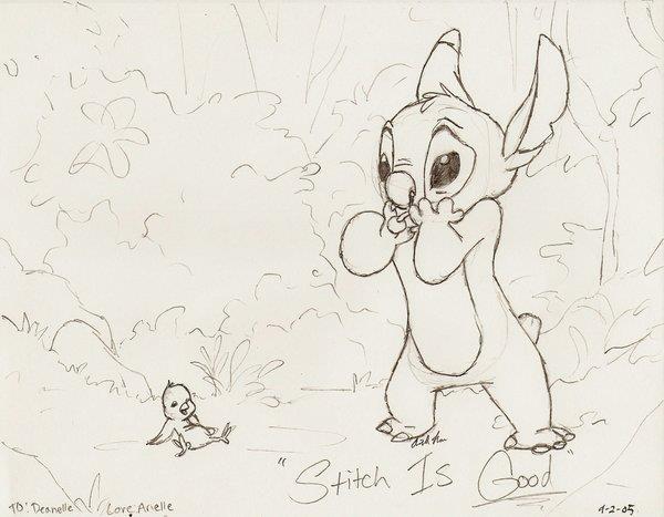 """""""Stitch Has A Glitch"""" Sketch"""