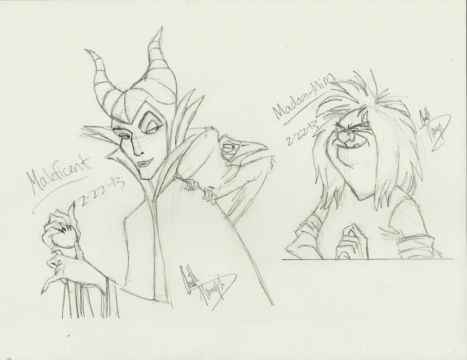 Disney Villain Sketches