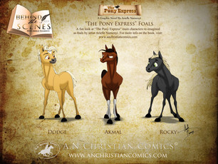"""The Pony Express"" Characters as Foals"