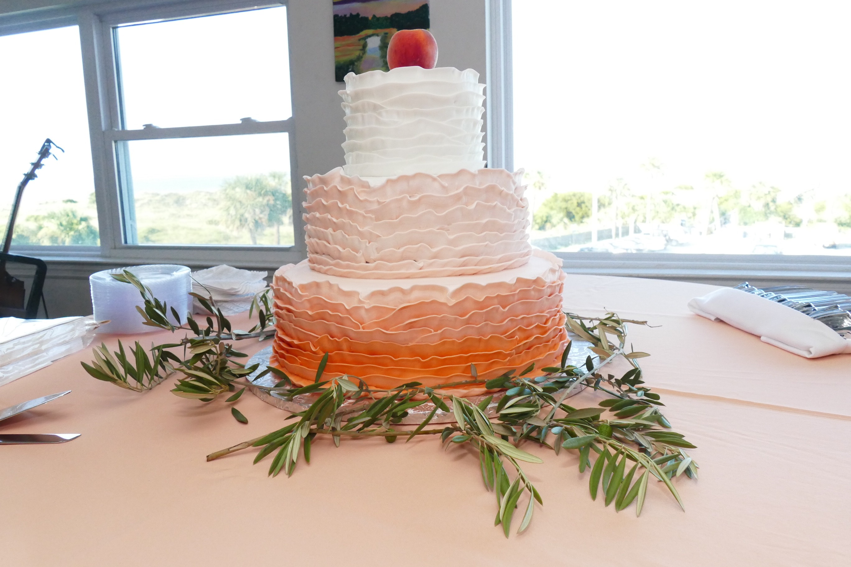 Gorgeous peach wedding!