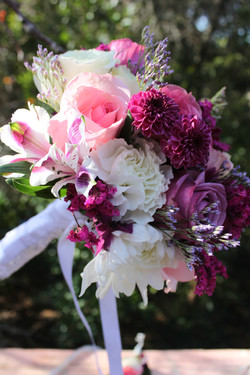 Pink and purple bouquet! Loverly!