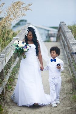 Bride and handsome escort.
