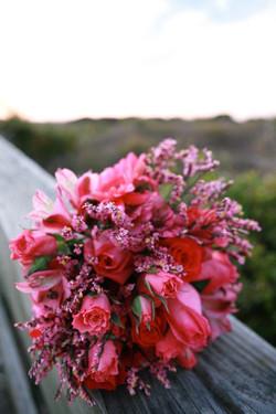 Hot pink wedding bouquet. <3