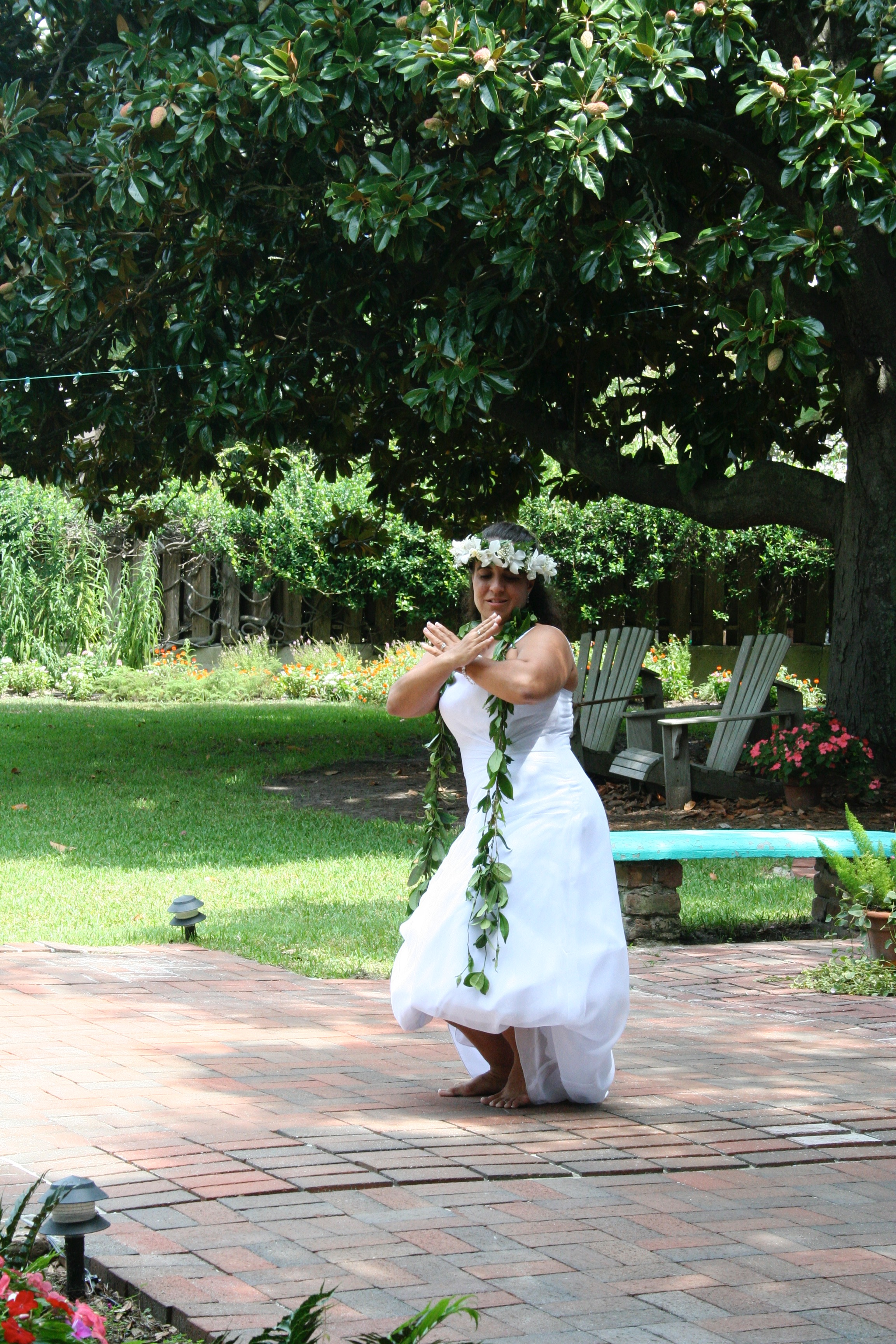 Traditional Hawaiian wedding dance