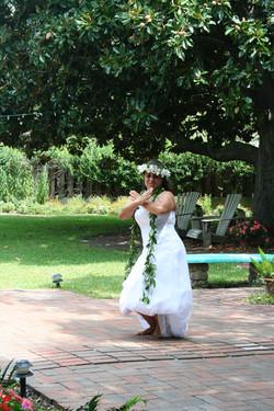 Traditional Hawaiian wedding dance