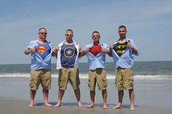 Our grooms/groomsmen are superheroes