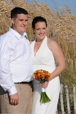 Fall weddings with seaoats