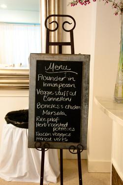 Catering menu. YUM!