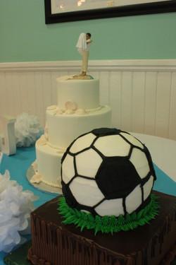 Soccer ball groom's cake!