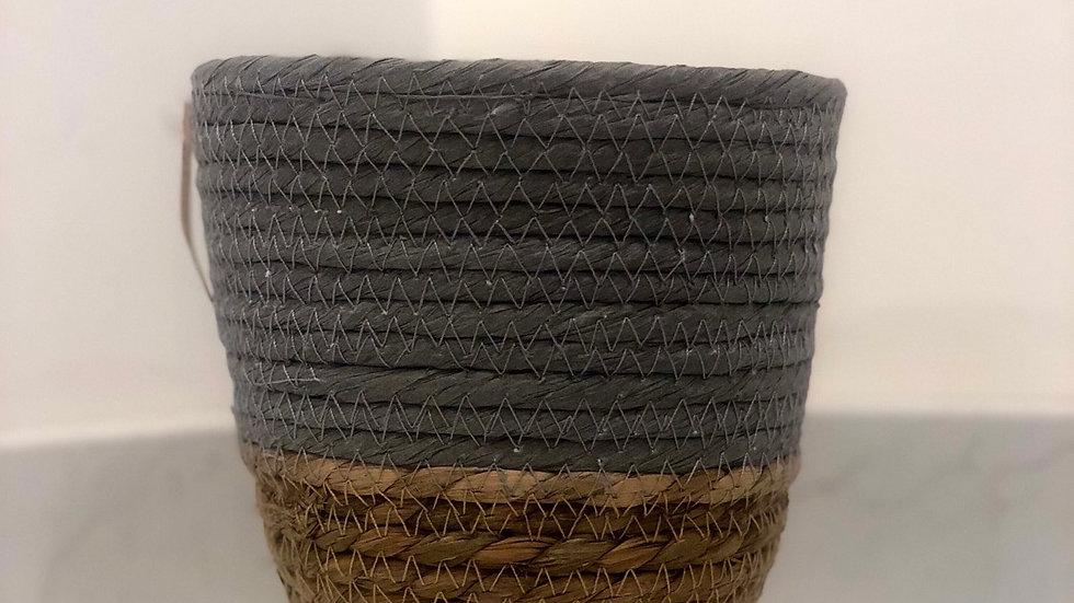 Grey Seagrass Basket