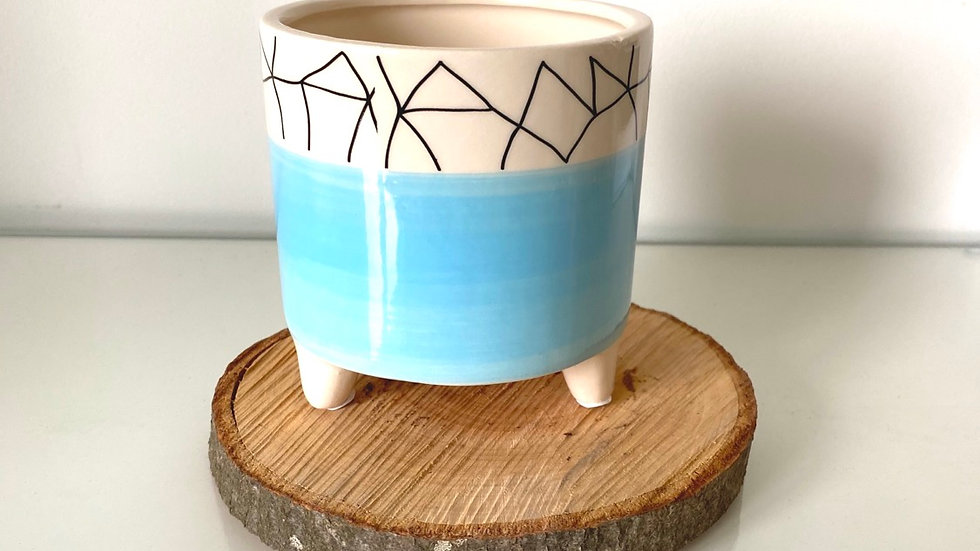 Blue Aztec Pot