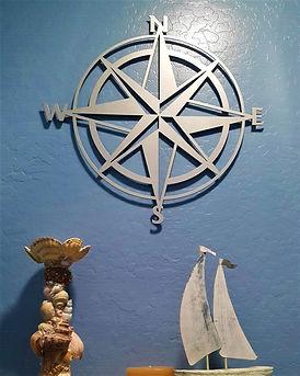 Compass Metal Wall Art