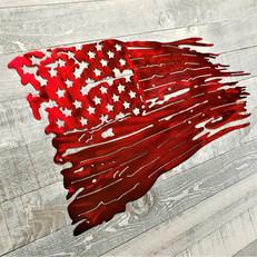 Battle Worn American Flag