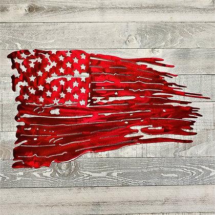 Custom Battle Worn American Flag