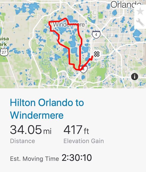 Hilton Orlando Resort to Windermere
