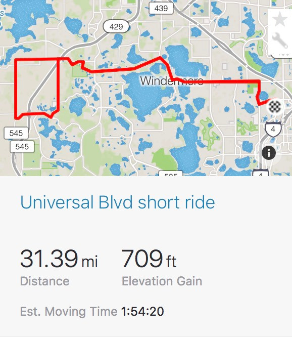 Map from Universal Blvd. Orlando