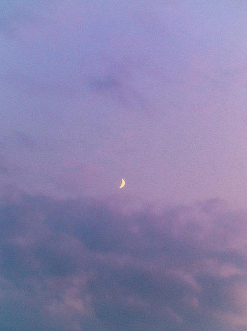 Crescent moon in Colorado