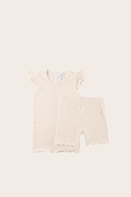 Off White Summer Pyjama Set