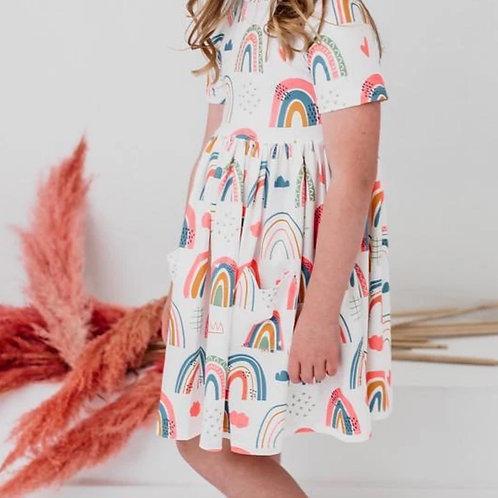 Happy Days Sleeve Twirl Dress