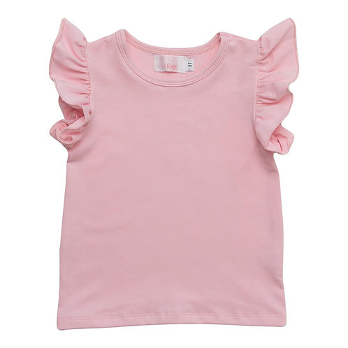 Light Pink S/S Ruffle Tee