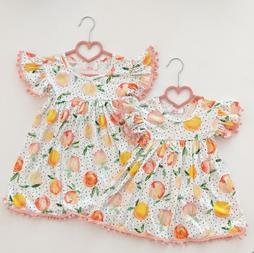 Peaches Pom Pom Dress