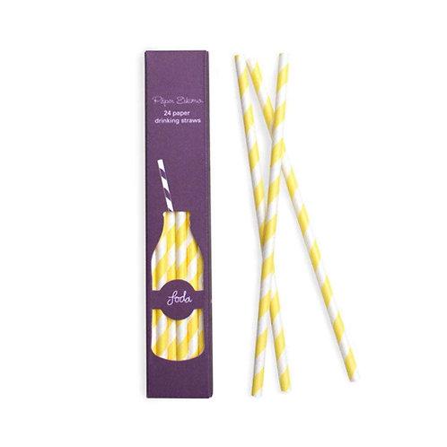 Limoncello Paper Straw