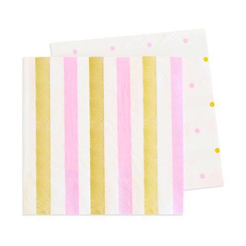 Gold & Pink Napkins
