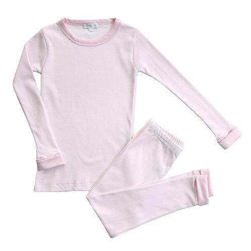 Pink Mini Stripe Long Pijama