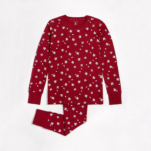 Burgundy Poinsettia PJ Set