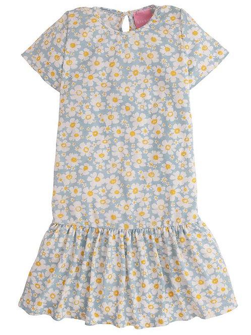 Blue Daisy Jersey Dress