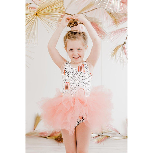 Rainbow Peach Tutu Leotard