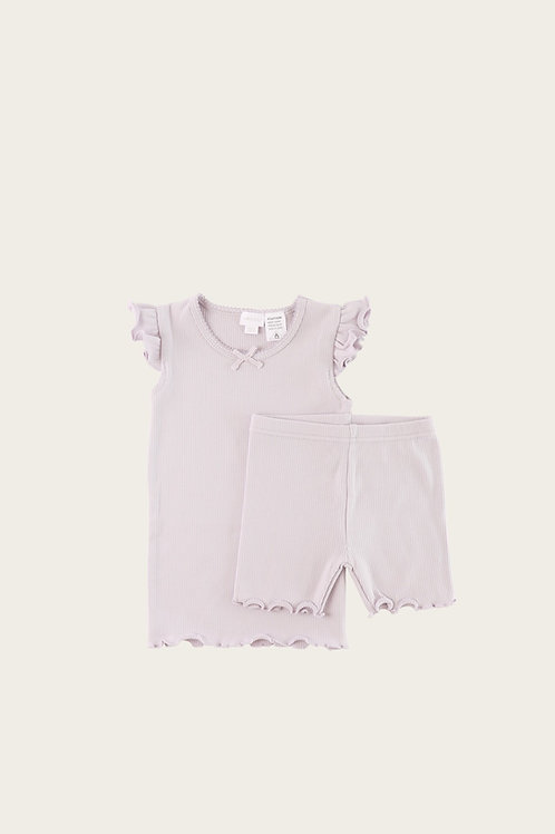 Soft Lilac Lily of The Valley Short Pj
