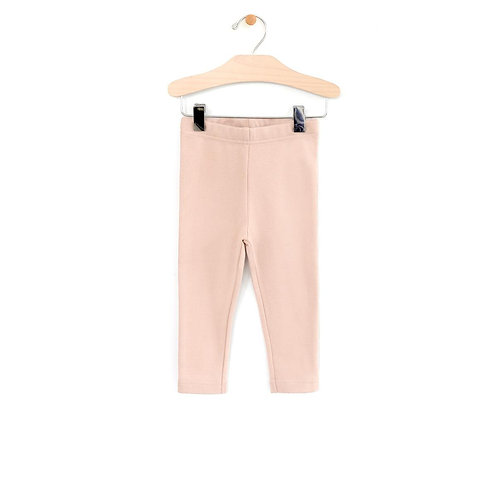 Peach Jersey  Crop Legging
