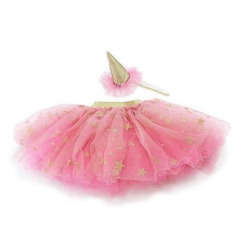 Tutu Skirt  & Party Hat Dress Up Set