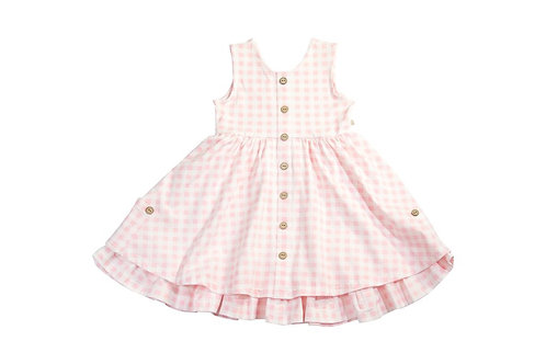 Pink Picnic Gingham Dress