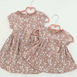 Daisies Jersey Side Gather Dress