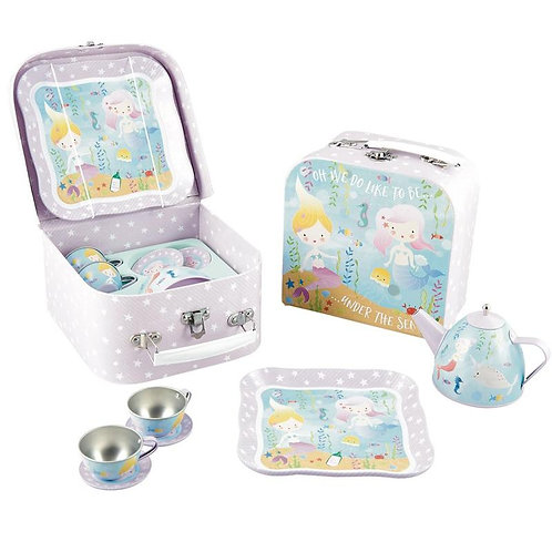Mermaid Tin Tea Set 7pz