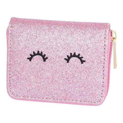 Pink Glitter Wink Wallet