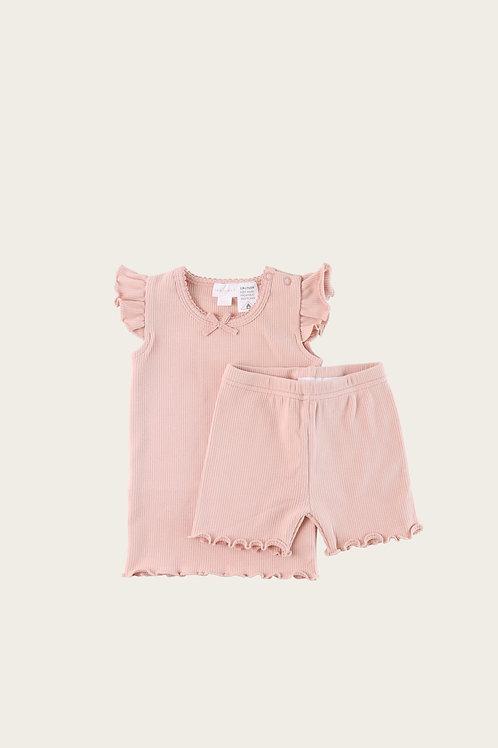 Peach Blossom Summer Pyjama Set