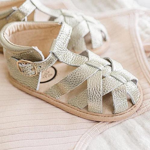Gold Closed Toe Sandal